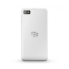 Vista trasera del BlackBerry Z10 blanco