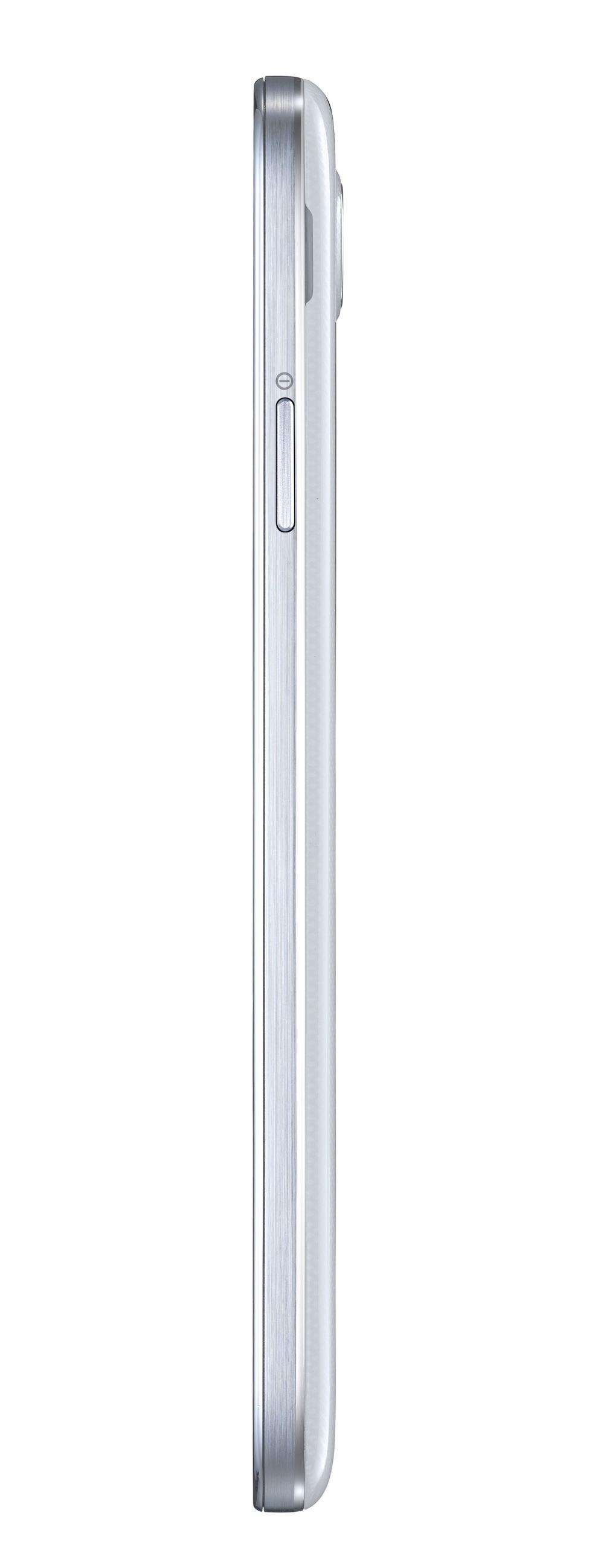 Lateral derecho del Samsung Galaxy S4 Blanco