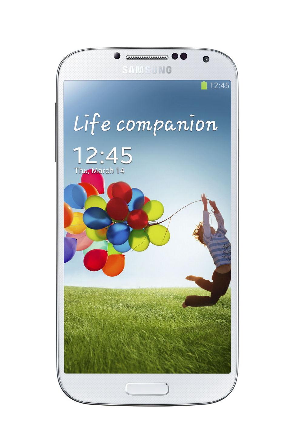 Frontal del Samsung Galaxy S4 Blanco