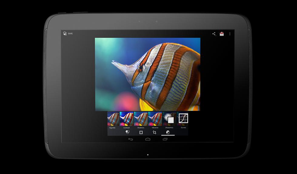 Frontal del Nexus 10