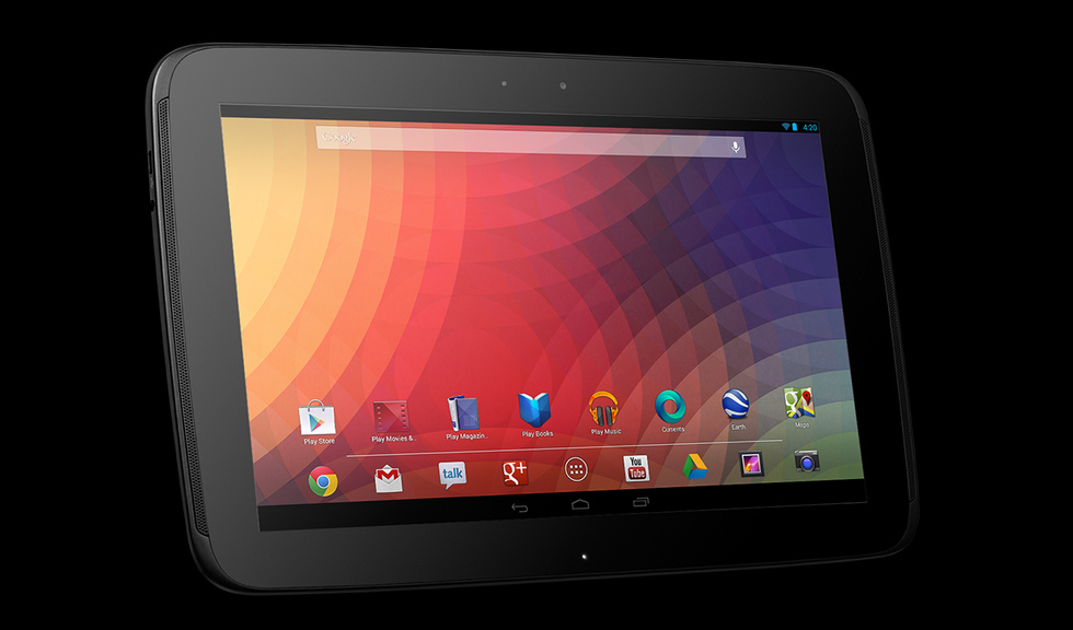 Interfaz Jelly Bean Nexus 10