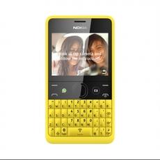 Nokia Asha 210 en amarillo