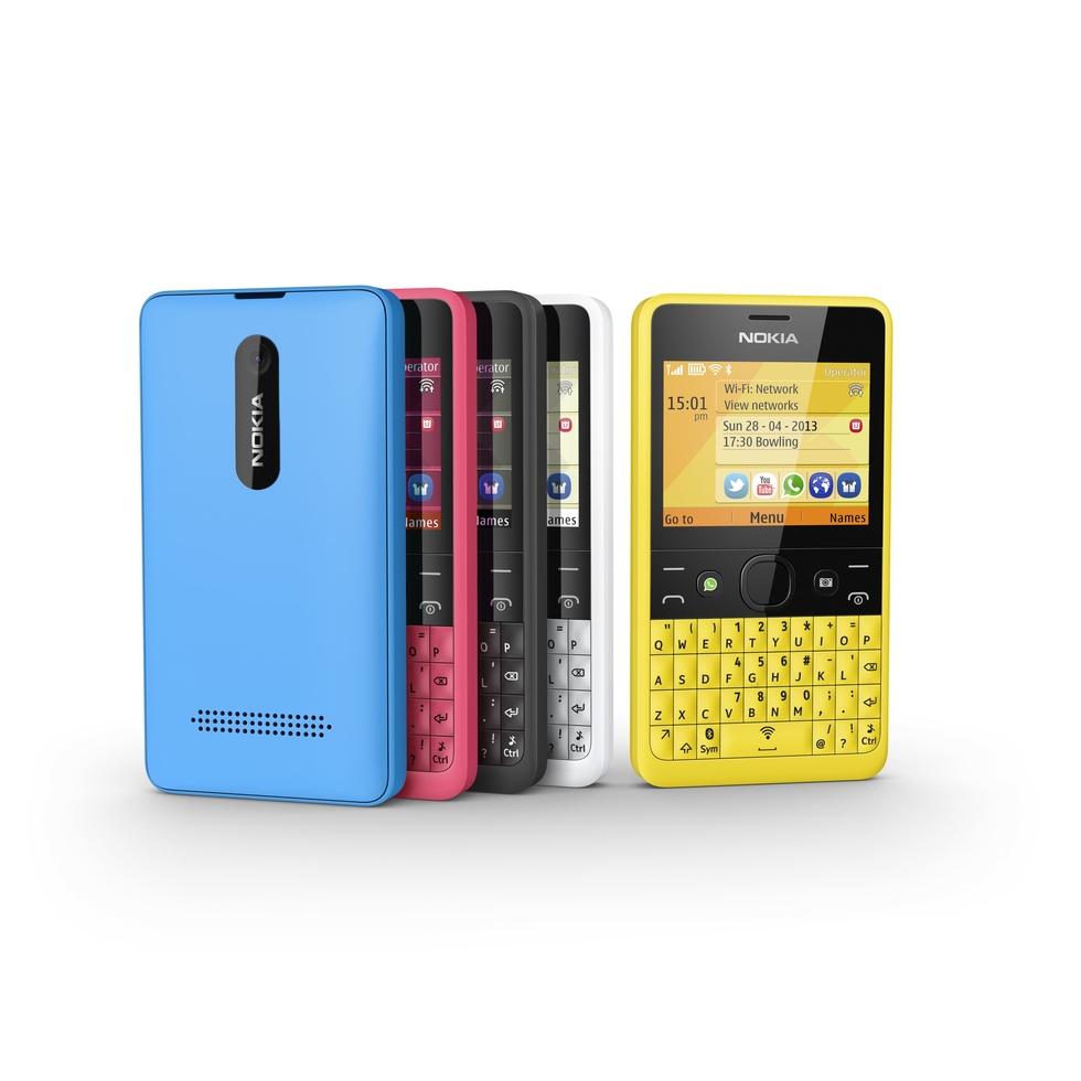 Nokia Asha 210 en todos sus colores