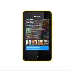 Frontal del Nokia Asha 501 Amarillo