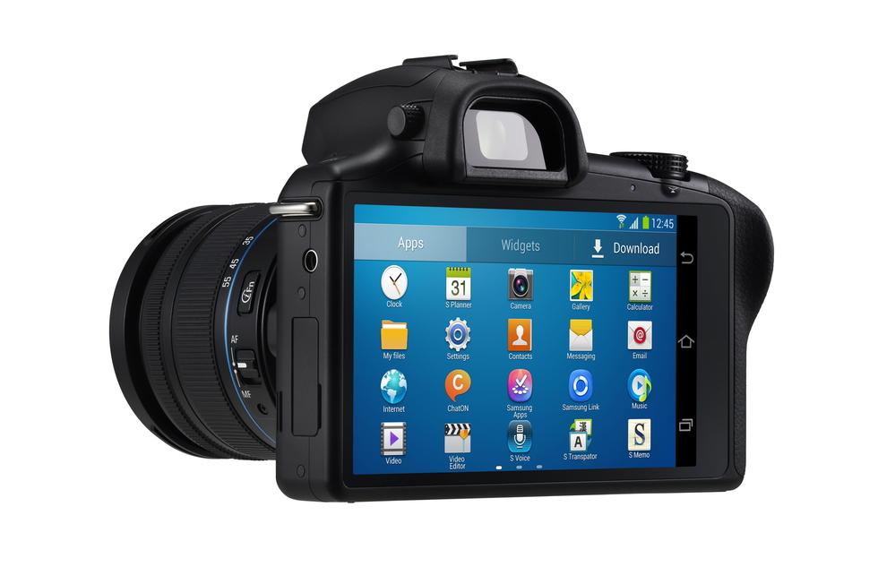 Vista cruzada de Samsung GALAXY NX