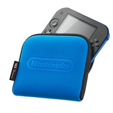 Nintendo 2DS azul con funda
