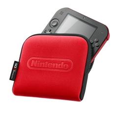 Nintendo 2DS roja con funda