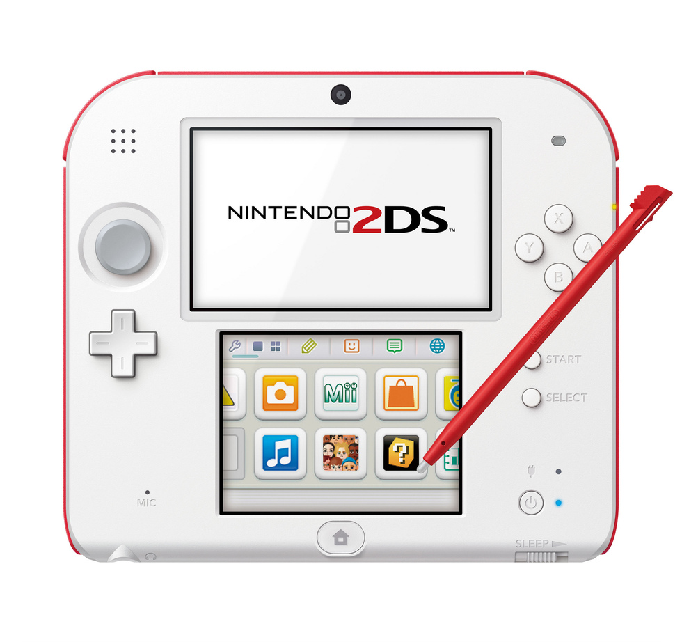 Frontal Nintendo 2DS roja