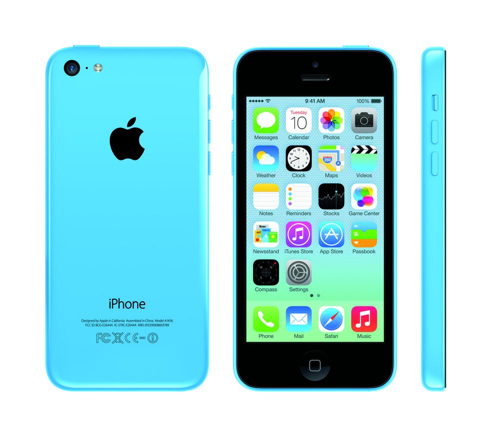iPhone 5C en azul