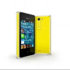 Nokia Asha 502 en amarillo