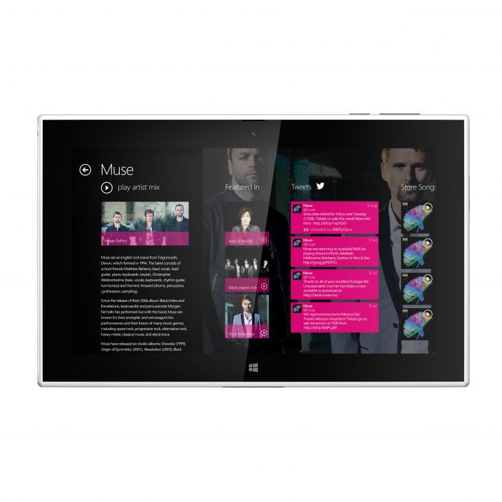 Interfaz del nuevo Nokia Lumia 2520