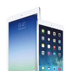 Vista frontal del iPad Air y iPad Mini Retina Display