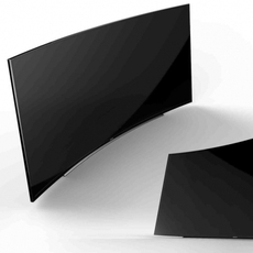 Frontal Samsung 105' Curved UHD TV