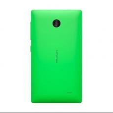 Vista trasera del Nokia X en verde