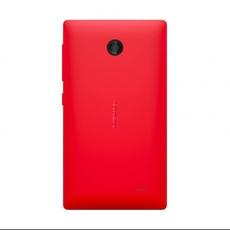 Vista trasera del Nokia X en rojo