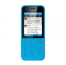 Vista frontal Nokia 220 en azul