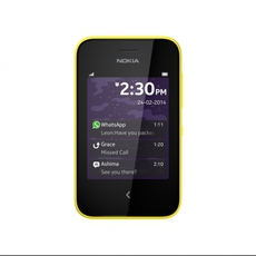 Pantalla de bloqueo del Nokia Asha 230 amarillo