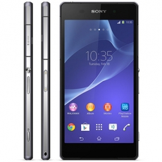 Frontal y lateral del Sony Xperia Z2