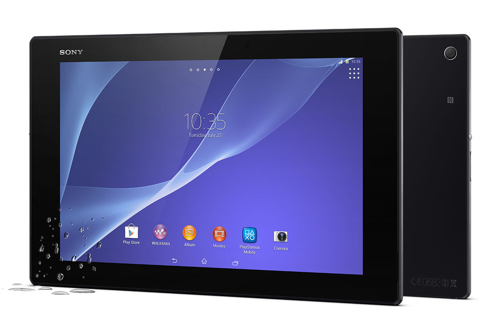 Frontal Sony Xperia Z2 Tablet