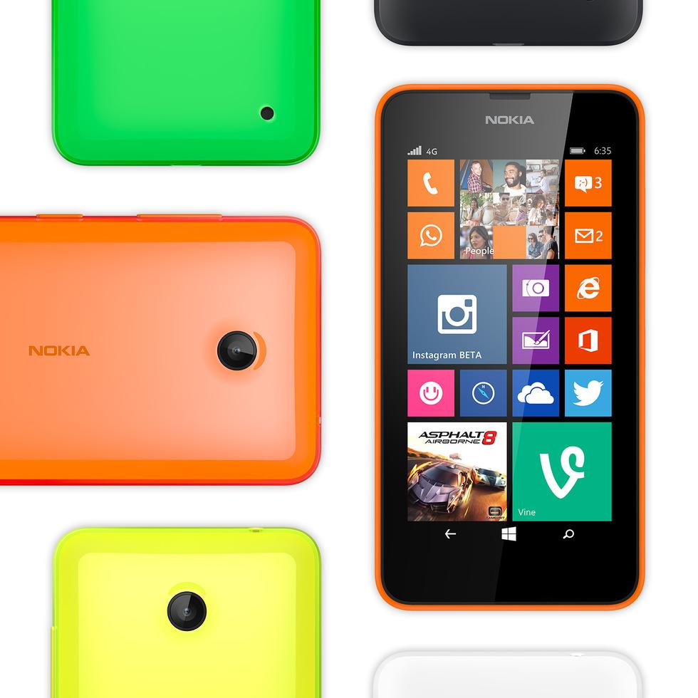 Los colores del Nokia Lumia 635