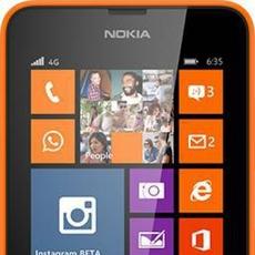 Nokia Lumia 635 en naranja