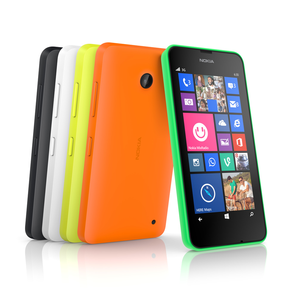 Los colores del Nokia Lumia 630