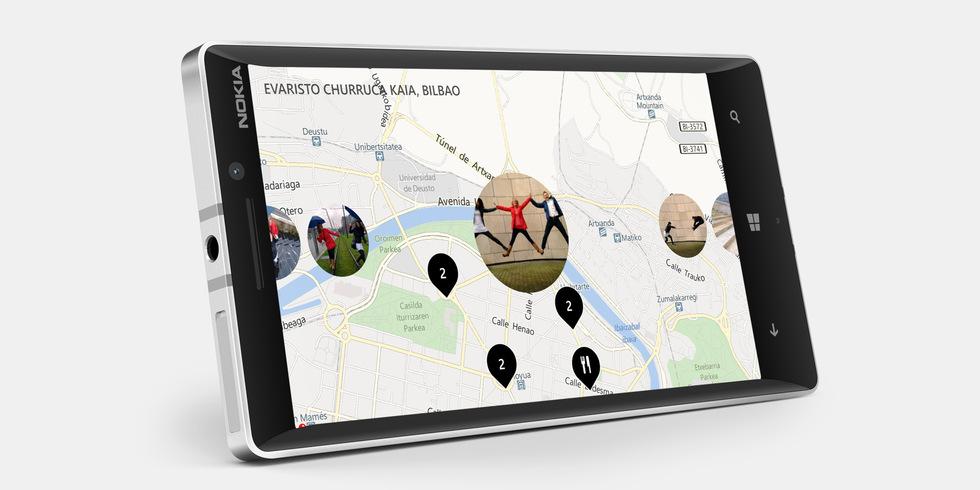 Mapas del Nokia Lumia 930 blanco
