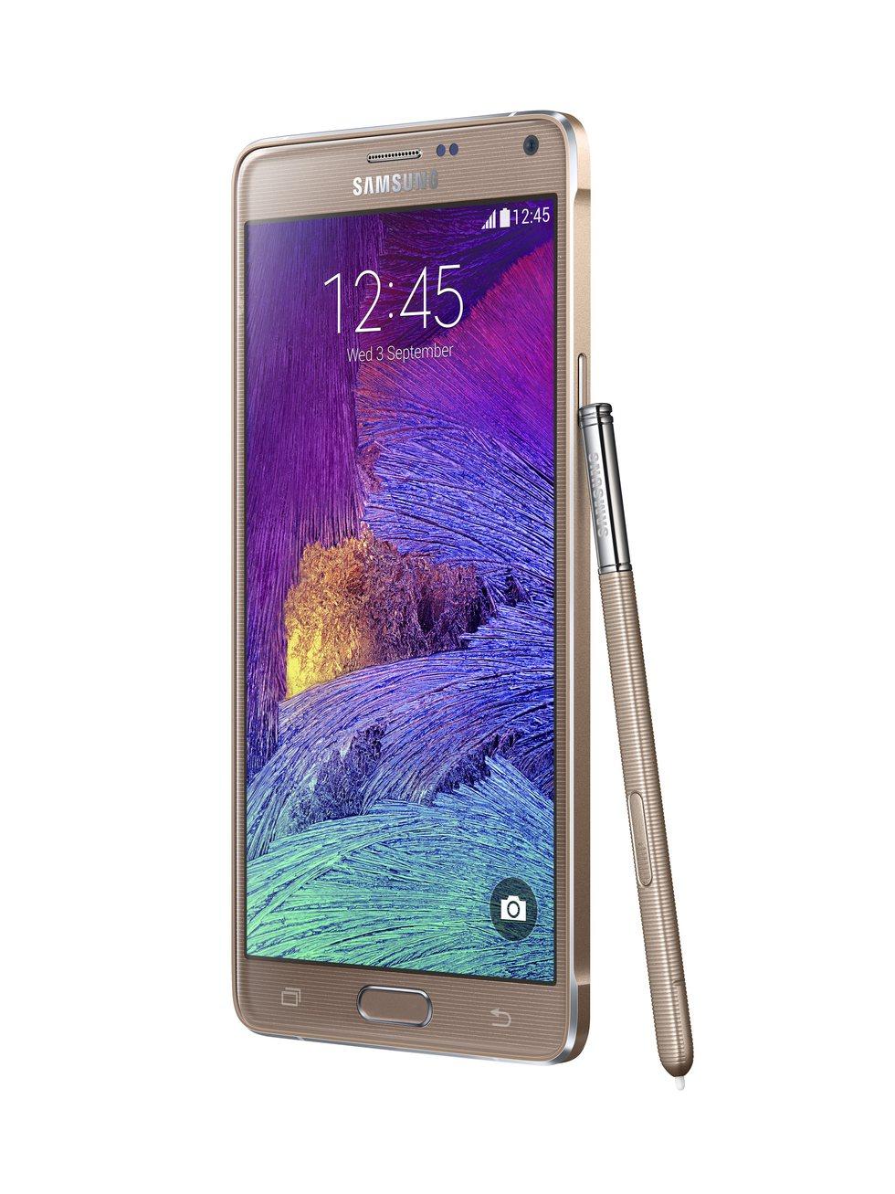 Samsung Galaxy Note 4 dorado