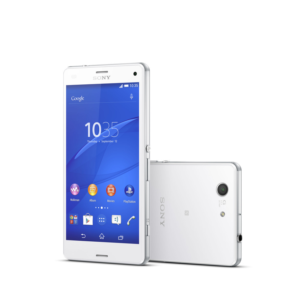 xperia z3 compact blanco sony xperia z3 compact. Black Bedroom Furniture Sets. Home Design Ideas