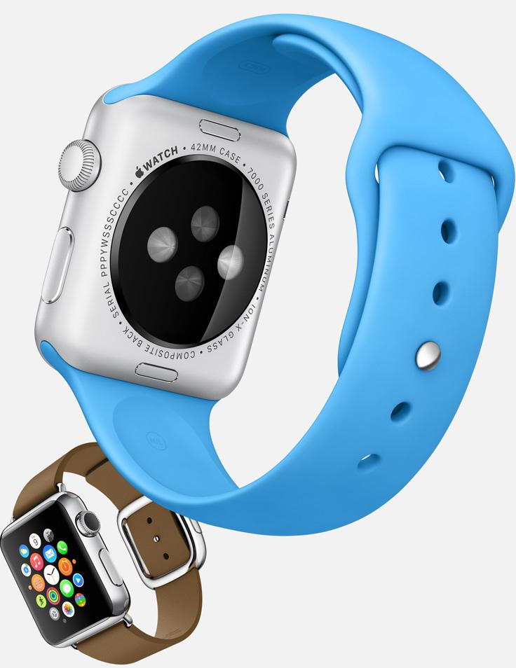 Correas azul y marrón de Apple Watch