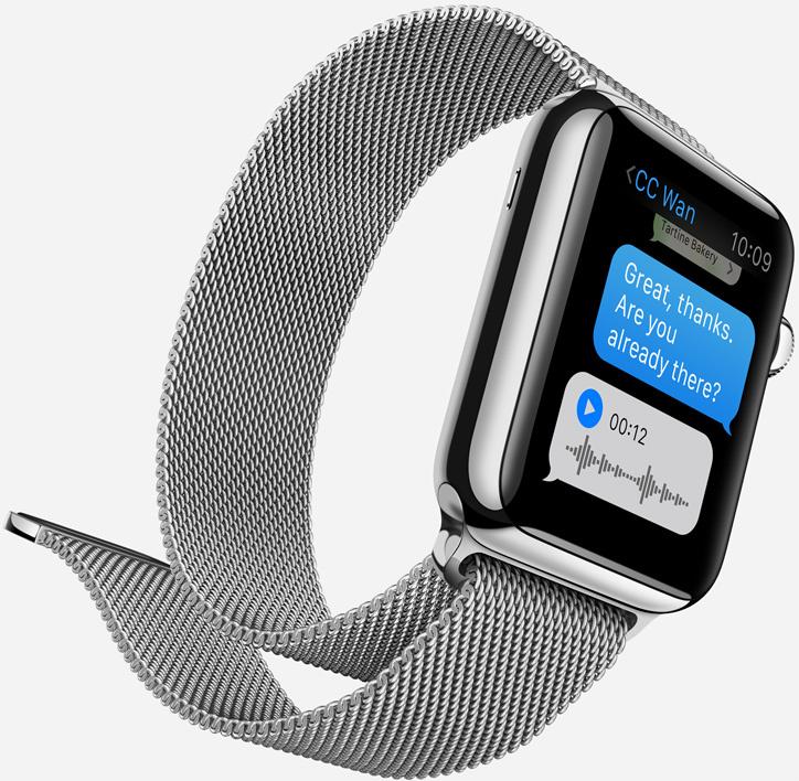 Los mensajes en Apple Watch