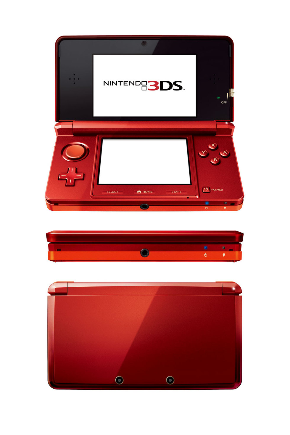 Nintendo 3DS en color rojo