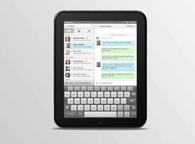 Teclado virtual del HP Touchpad