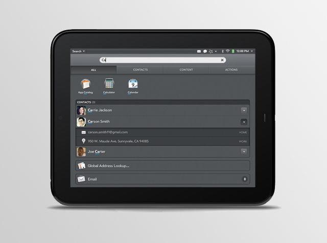 HP Touchpad y el correo
