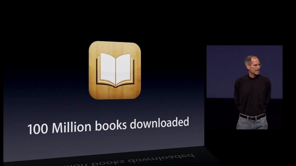 Más de 100 millones de libros descargos de la iBooks
