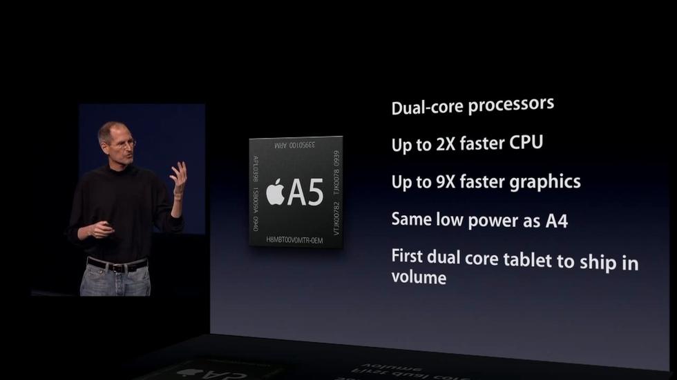 El nuevo procesador Apple A5