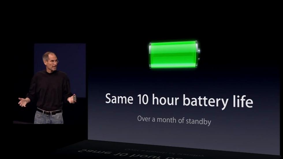 iPad 2: 10 horas de batería