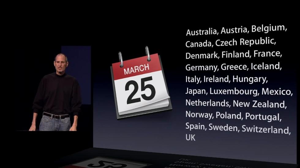 iPad 2: a la venta el 25 de marzo