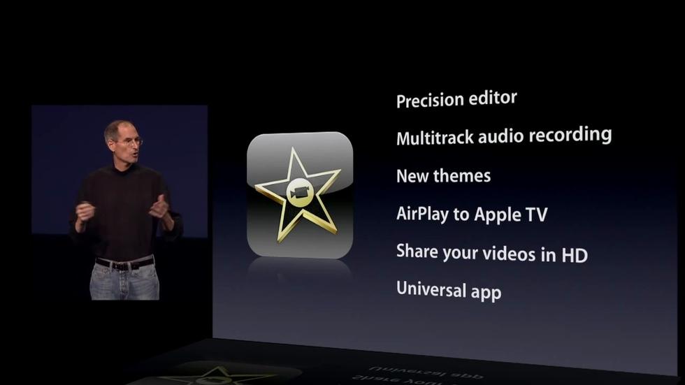 iMovie para iPad 2
