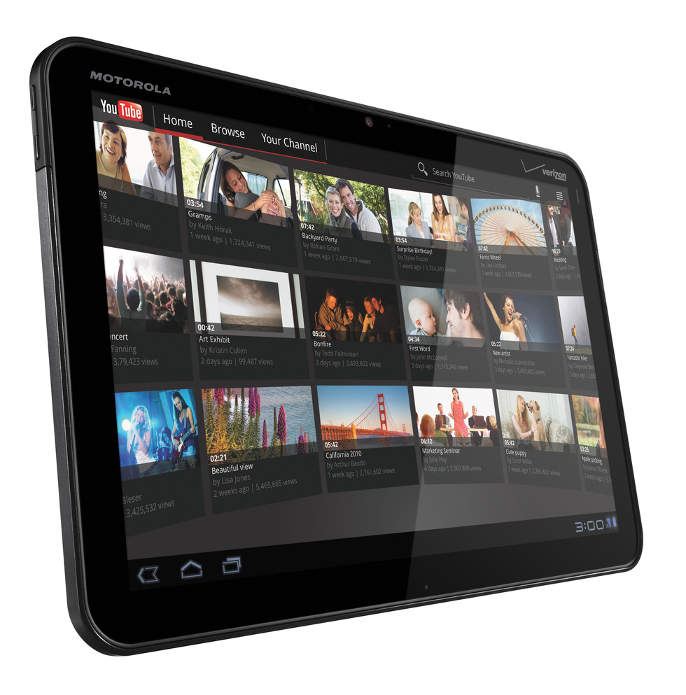 YouTube en el Motorola Xoom