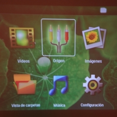 Menú del microproyector Philips Picopix 1430