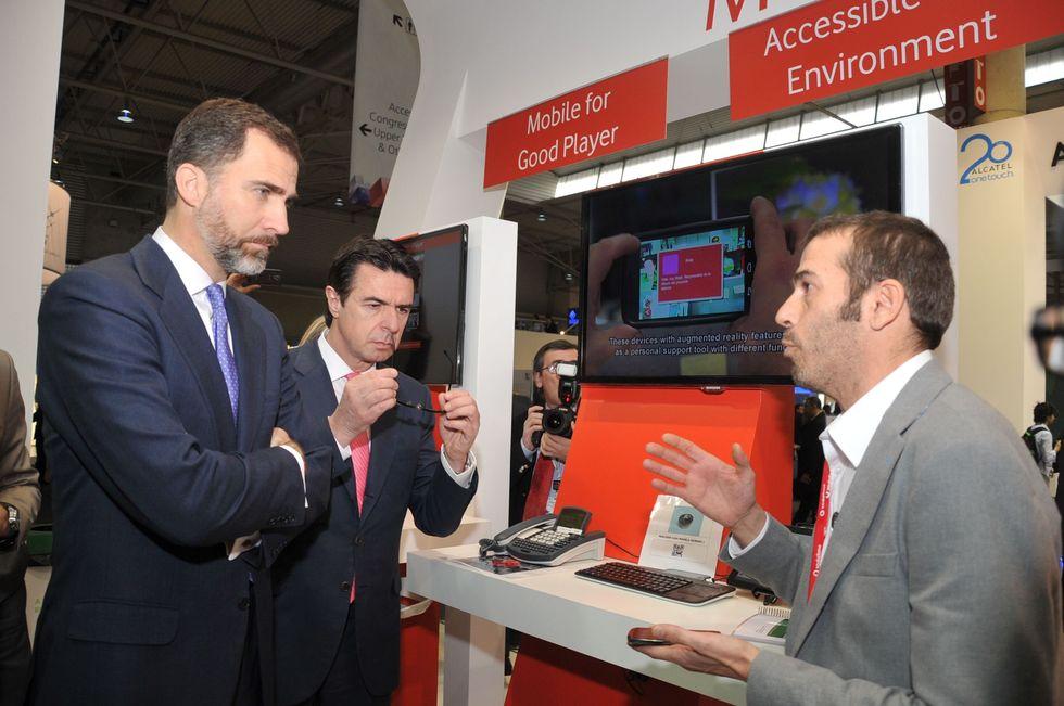 El Príncipe Felipe en el MWC 2013