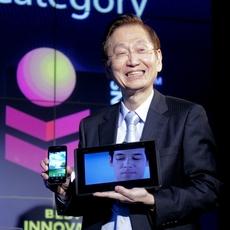 Jonney Shih presentando Padfone Infinitive en el MWC 2013