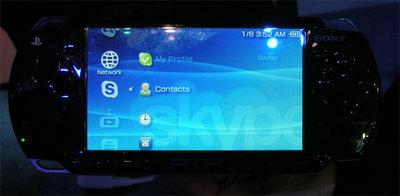 Nuevas funcionalidades para la PSP de Sony, ahora Skype