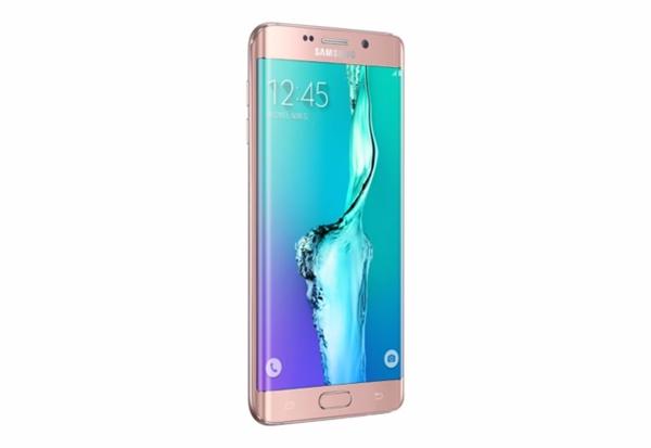 Samsung Galaxy S6 Edge Plus de color rosa.