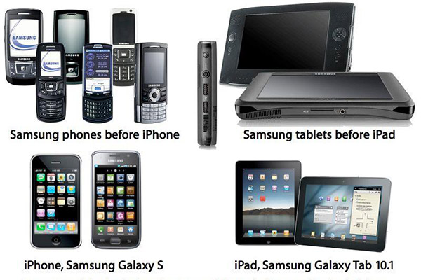 Comparativa de productos Samsung y Apple