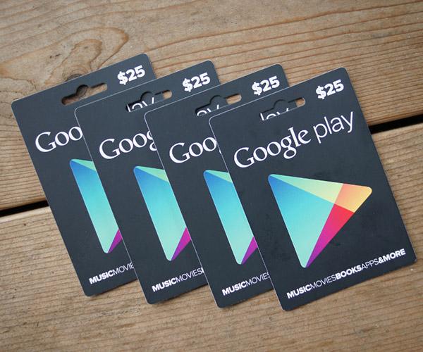 Google Gift Cards estadounidenses
