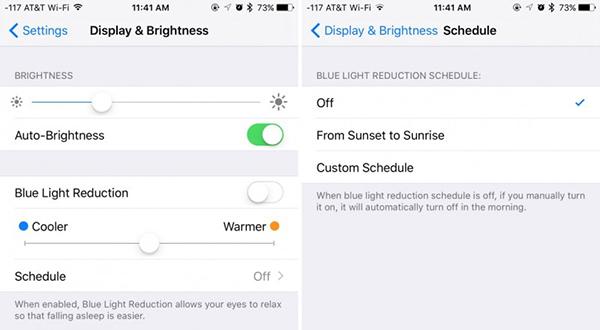 Modo Noche en iOS 9.3