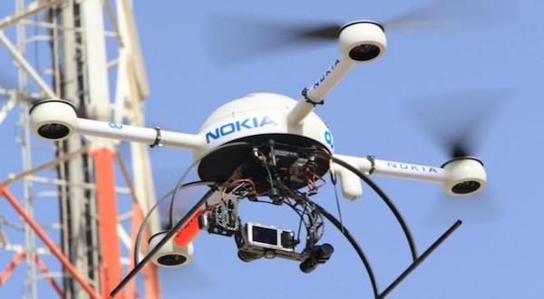 Imagen de uno de los drones de Nokia