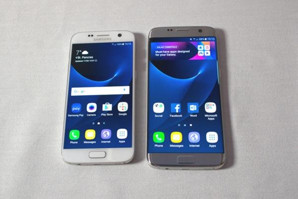 Samsung Galaxy S7 y Galaxy S7 Edge respectivamente.
